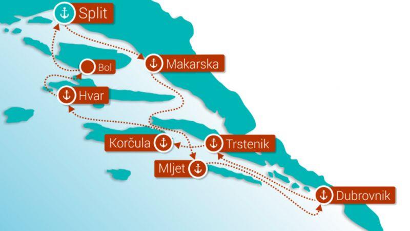 Croatia - Cruise along the Dalmatian Coast
