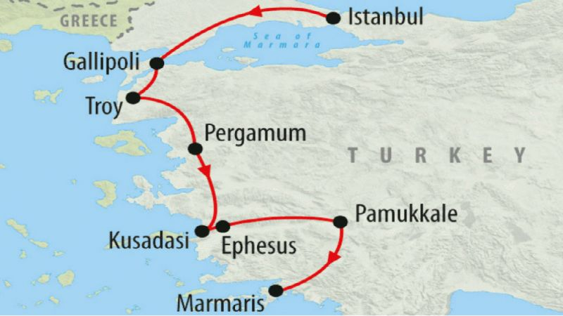 Turkey - Istanbul to the Med - 15% 7 Day Discounted Tour in 2018